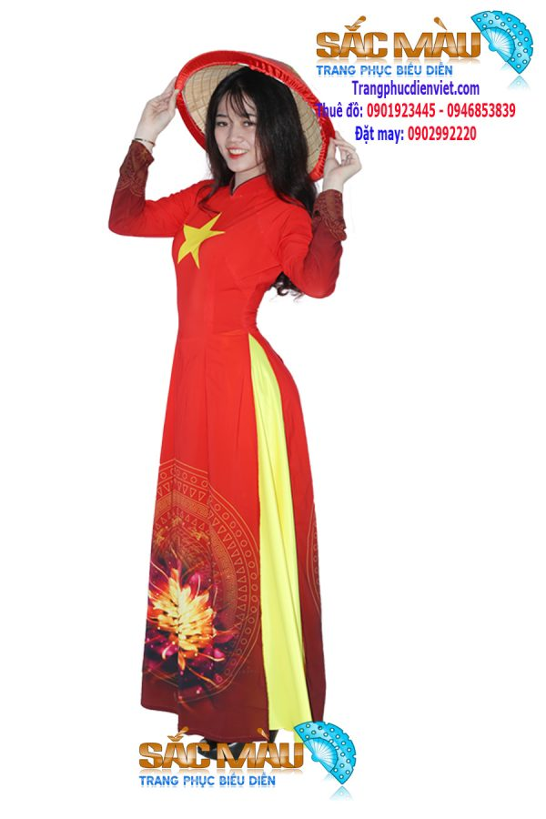 ao-dai-co-do-sao-vang