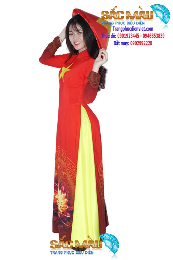 ao-dai-do-sao-vang